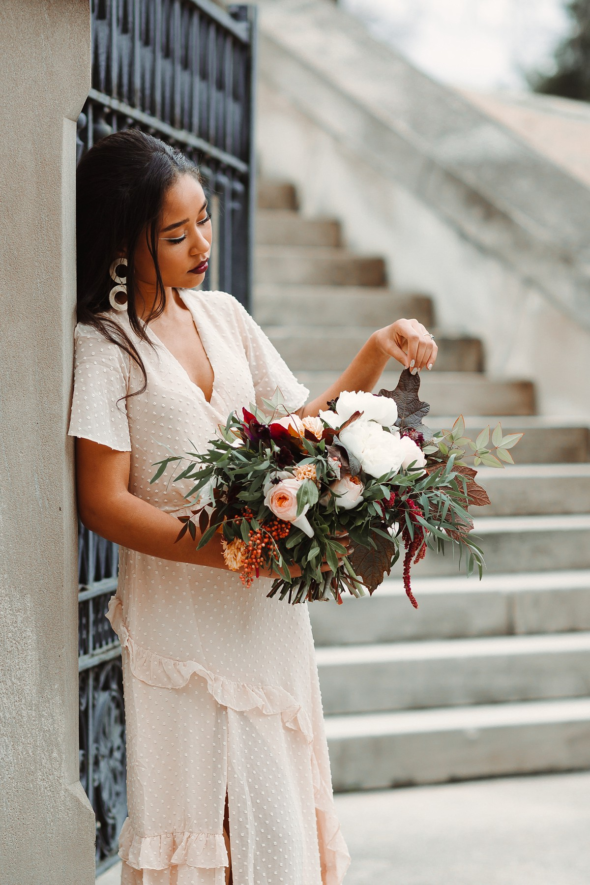 Winter Bridal Fashion For Courthouse Wedding Abby Weeden